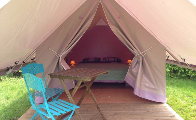 piste cyclable hébergement location glamping